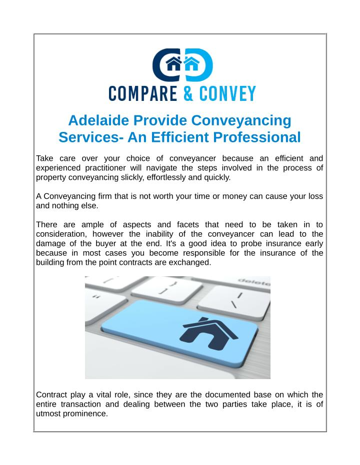 Adelaide Provide Conveyancing