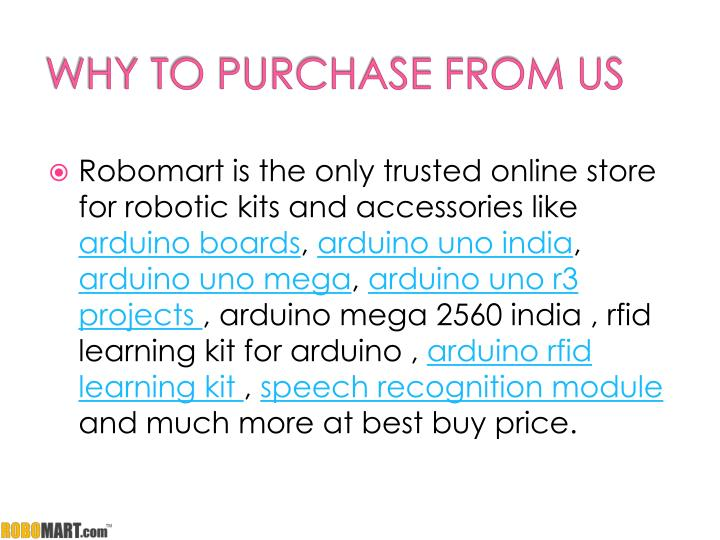 WHY TO PURCHASE FROM US