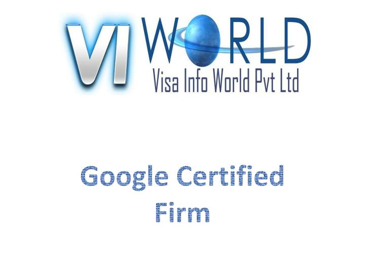 Google certified firm