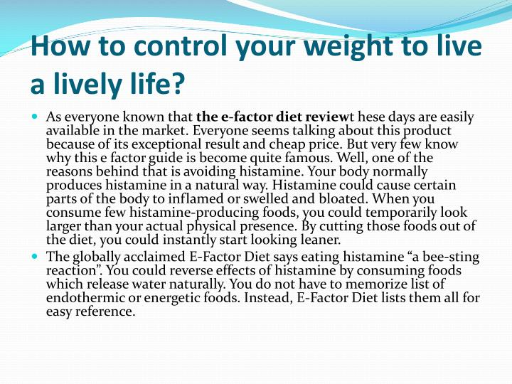 How to control your weight to live a lively life