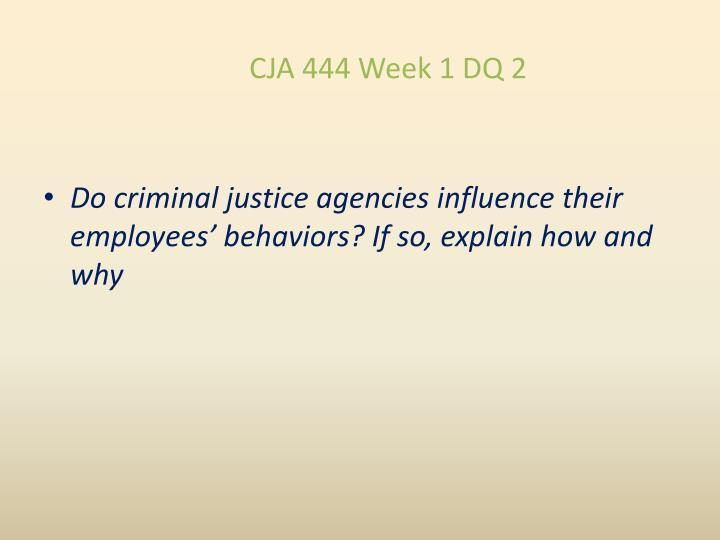 CJA 444 Week 1 DQ 2