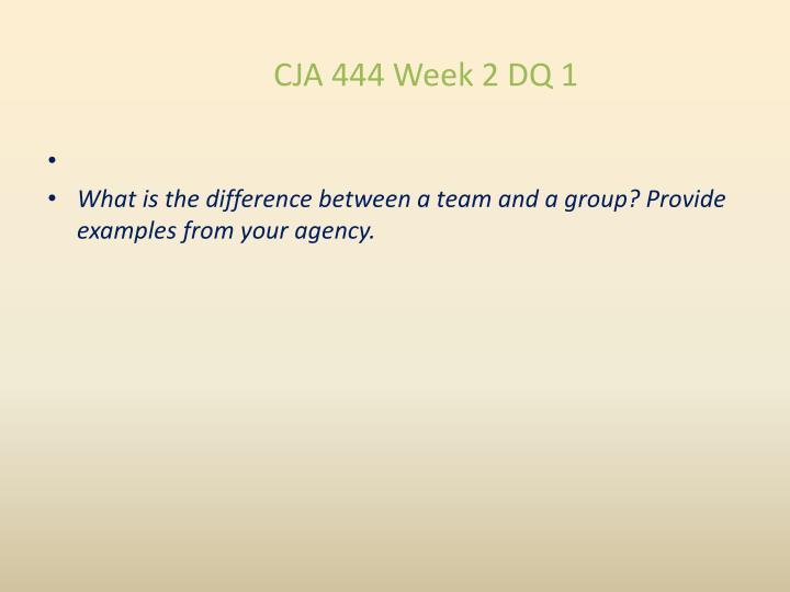CJA 444 Week 2 DQ 1