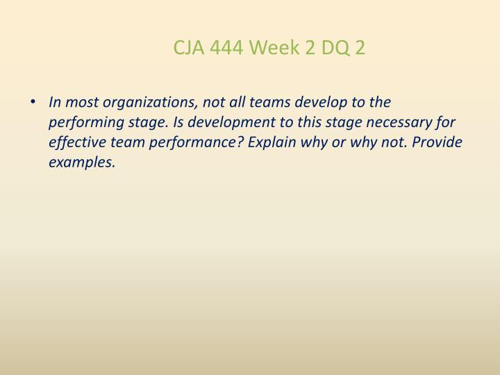 CJA 444 Week 2 DQ 2