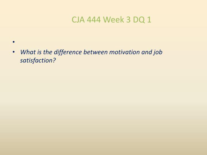 CJA 444 Week 3 DQ 1