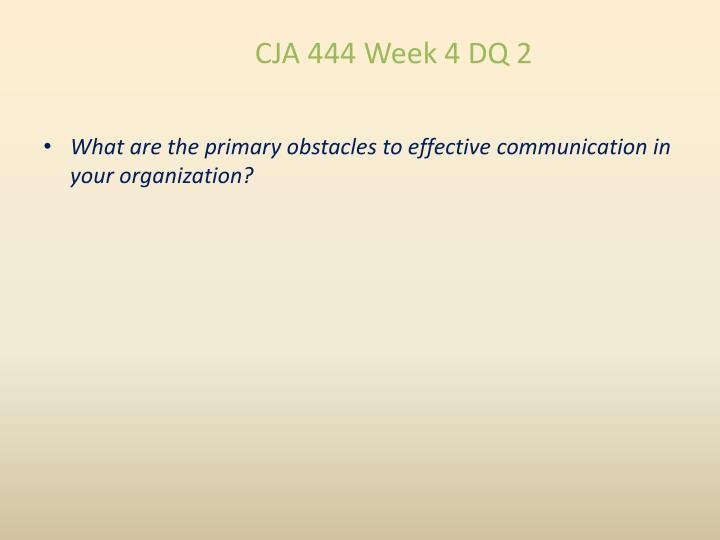 CJA 444 Week 4 DQ 2