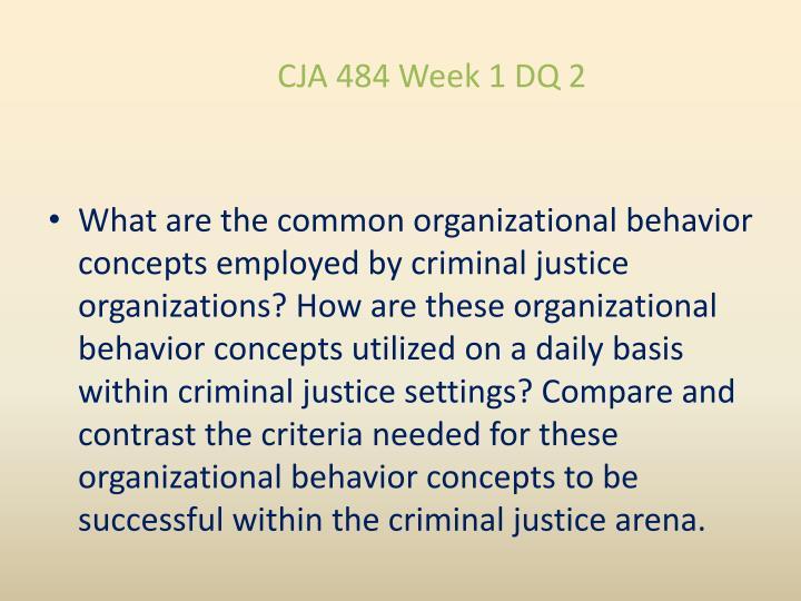 CJA 484 Week 1 DQ 2