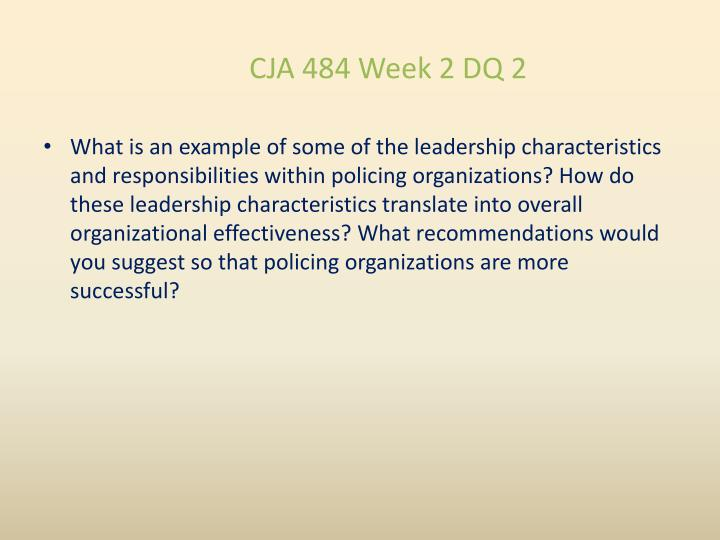 CJA 484 Week 2 DQ 2