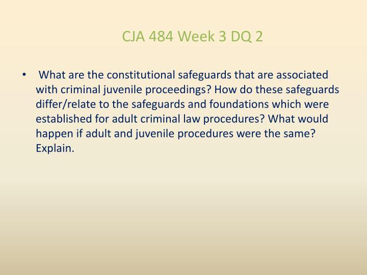 CJA 484 Week 3 DQ 2