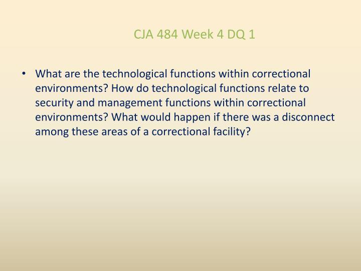 CJA 484 Week 4 DQ 1