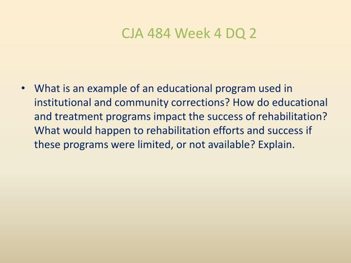 CJA 484 Week 4 DQ 2