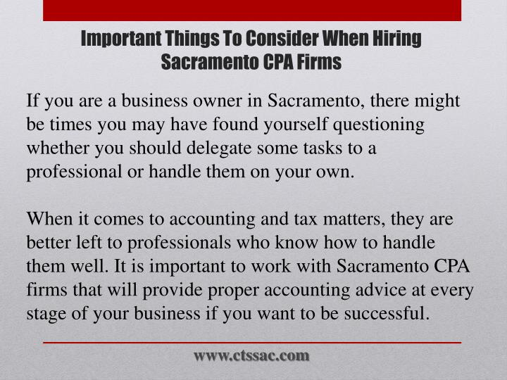 Important things to consider when hiring sacramento cpa firms1