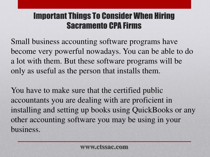Small business accounting software programs have become very powerful nowadays. You can be able to do a lot with them. But these software programs will be only as useful as the person that installs them.