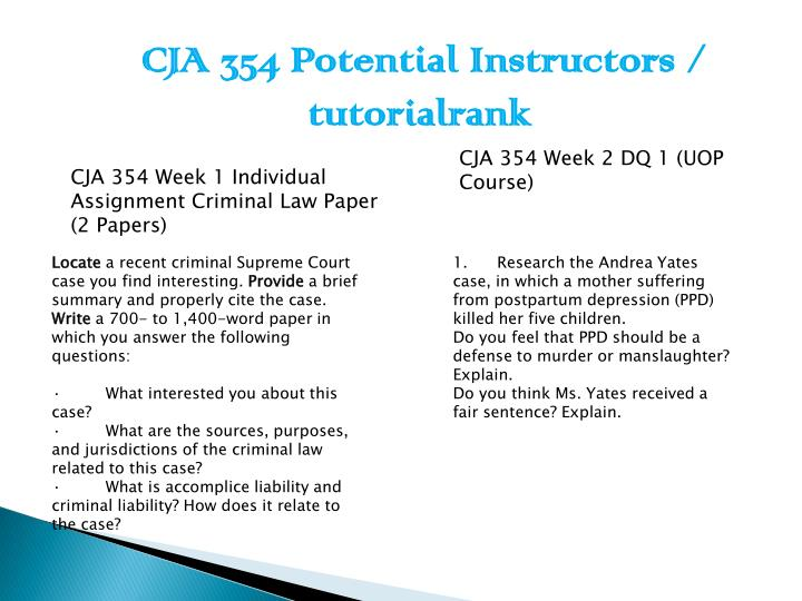 cja 354 week 4 summary