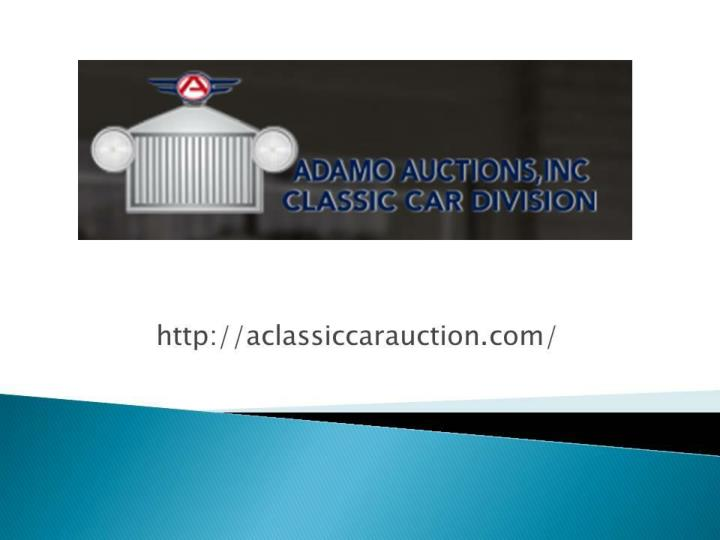 A classic car auction