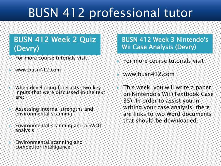BUSN 412 Week 2 Quiz (Devry)