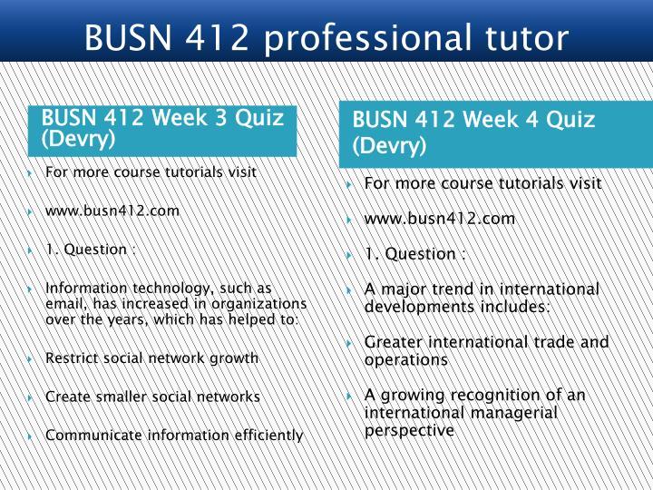 BUSN 412 Week 3 Quiz (Devry)