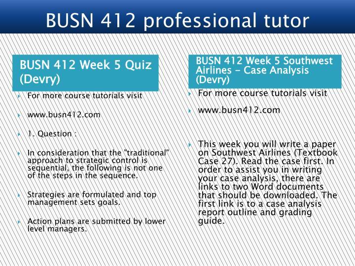 BUSN 412 Week 5 Quiz (Devry)