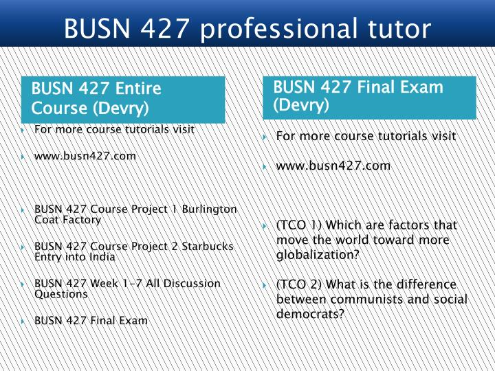 BUSN 427 Entire Course (Devry)