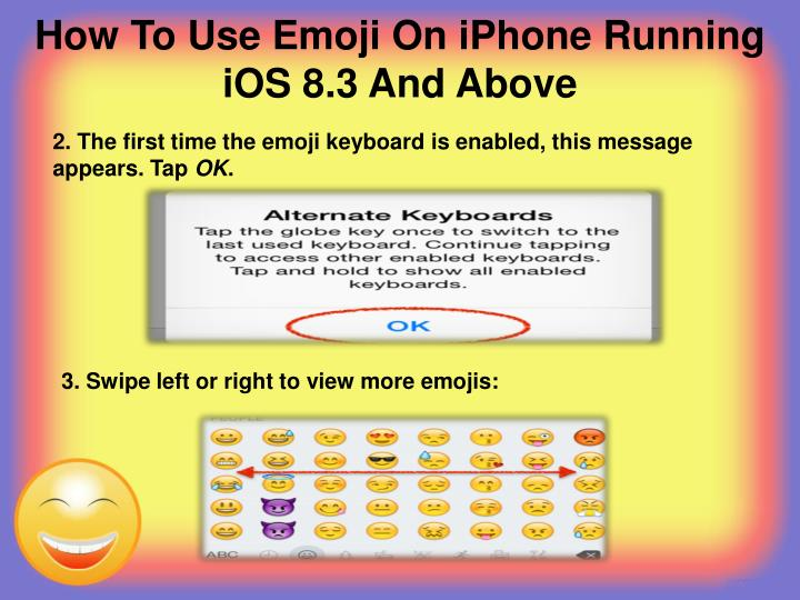How To Use Emoji On iPhone Running iOS 8.3 And Above