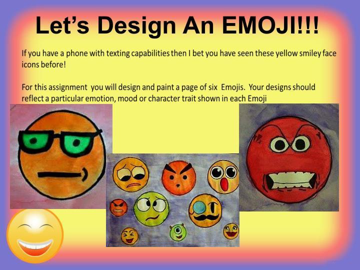 Let's Design An EMOJI!!!