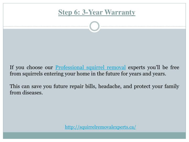 Step 6: 3-Year Warranty