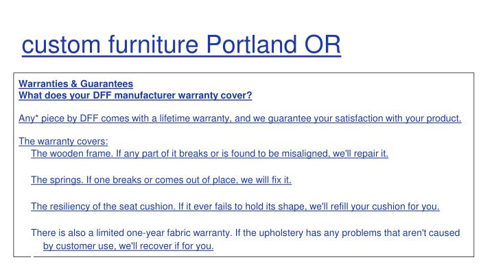 custom furniture Portland OR