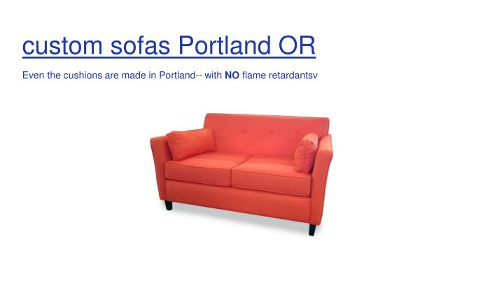 custom sofas Portland OR
