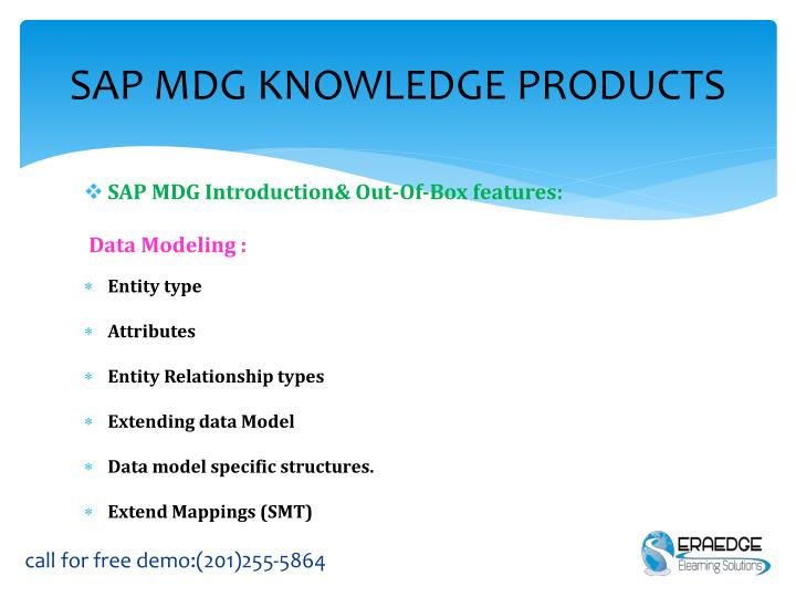 SAP MDG KNOWLEDGE PRODUCTS