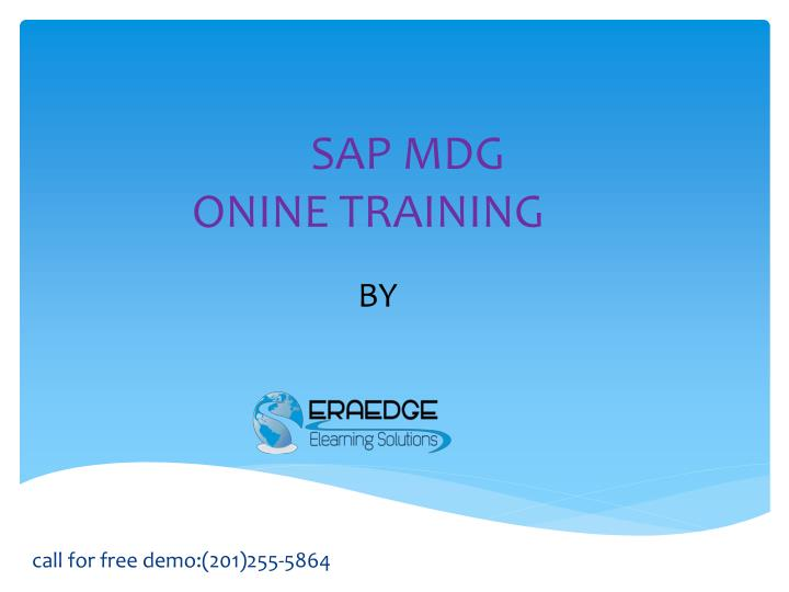 Sap mdg onine training