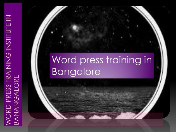 Word press training institute in banangalore