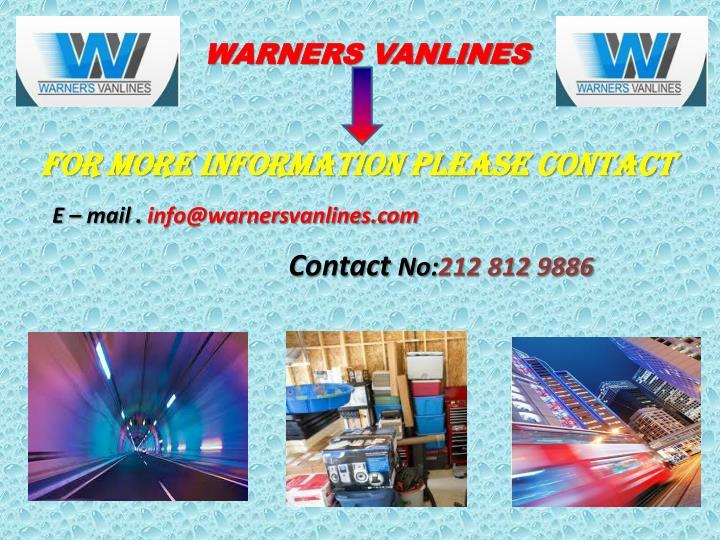 WARNERS VANLINES