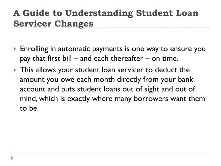 PPT - Study Loan: A Guide to Understanding Student Loan Servicer Changes PowerPoint Presentation ...