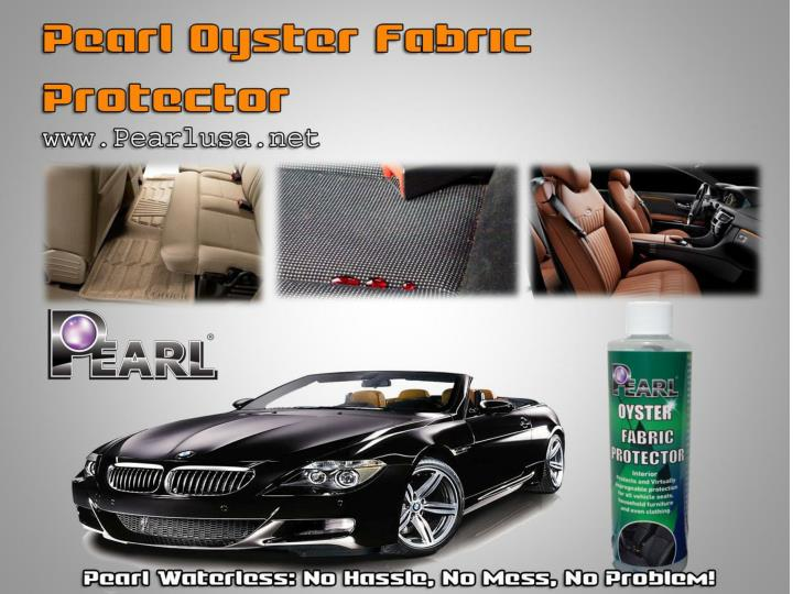 Pearl oyster fabric protector in pearl waterless products