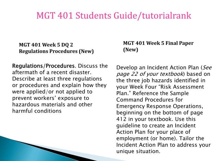MGT 401