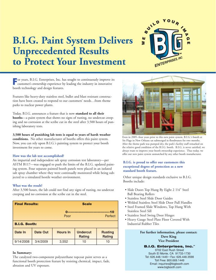 B.I.G. Paint System Delivers