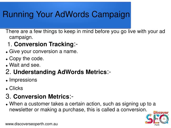 There are a few things to keep in mind before you go live with your ad campaign.