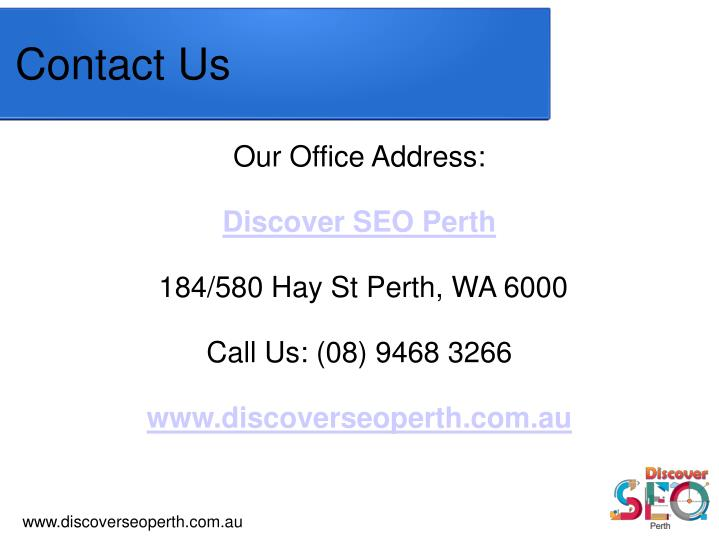 Our Office Address:
