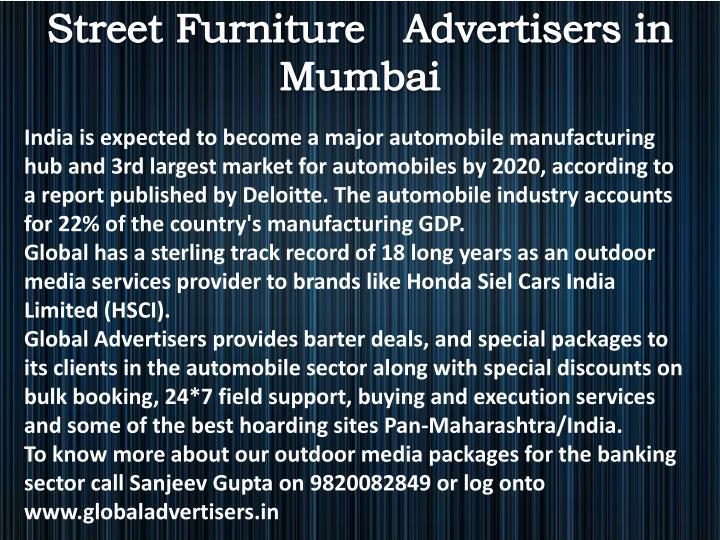 Street Furniture   Advertisers in