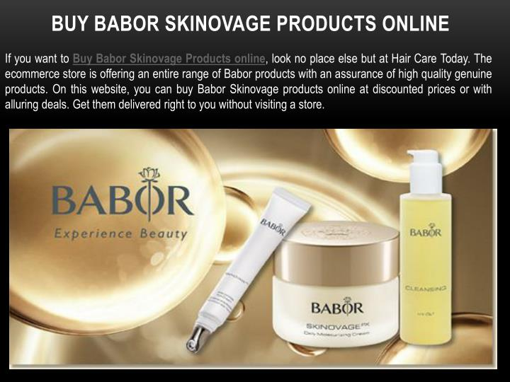 Buy babor skinovage products online