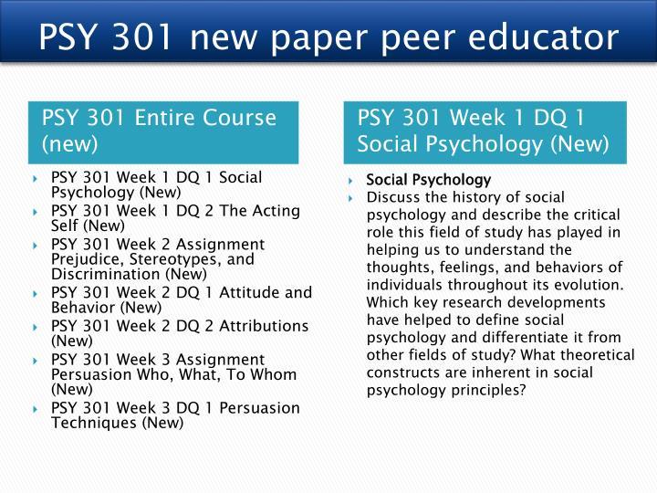 PSY 301 new paper peer