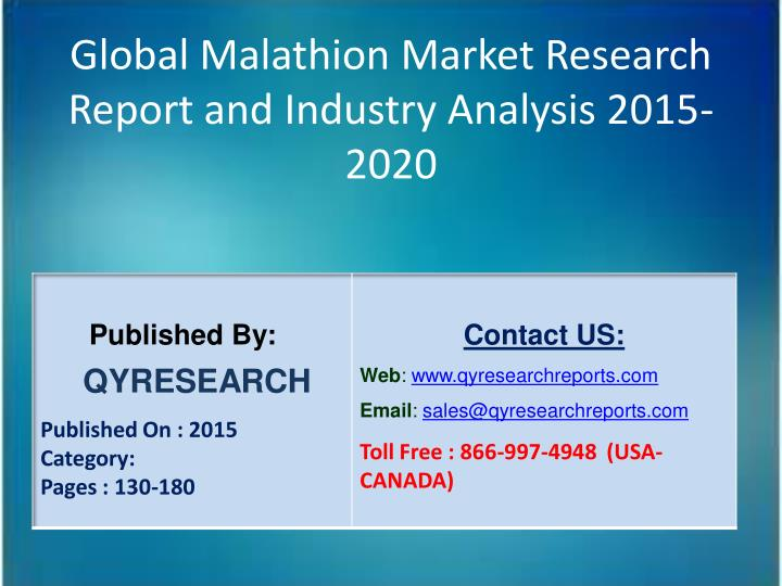 Global Malathion Market Research