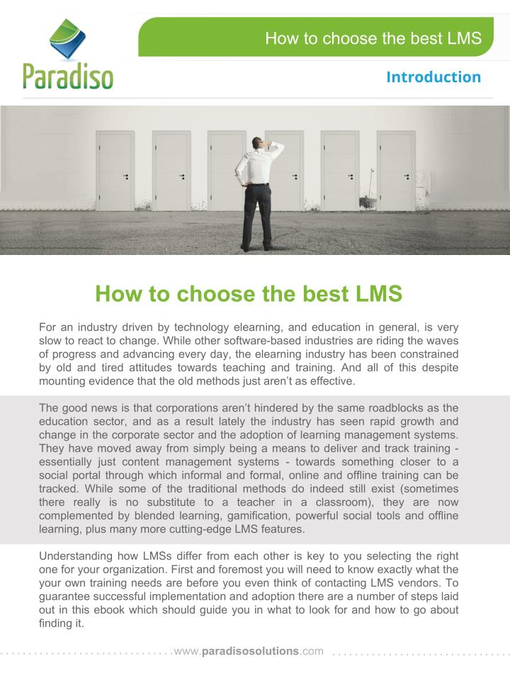 How to choose the best LMS