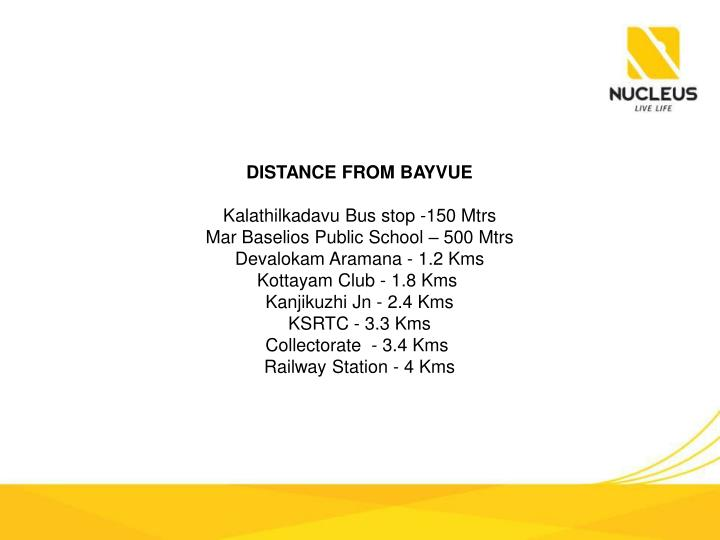 DISTANCE FROM BAYVUE