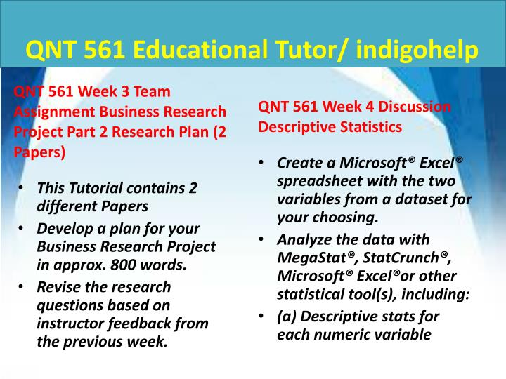 QNT 561 Educational