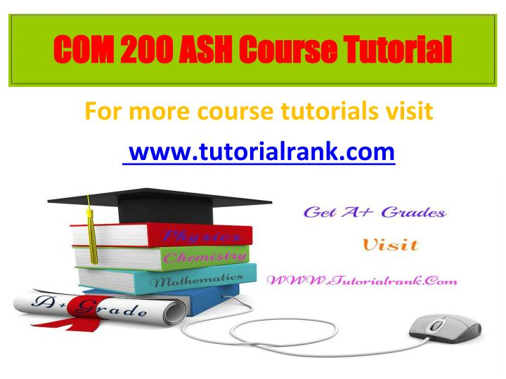 For more course tutorials visit