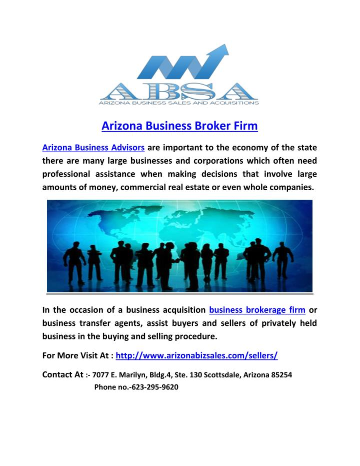 Arizona Business Broker Firm