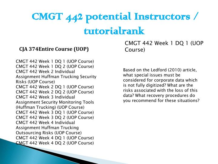 CMGT 442