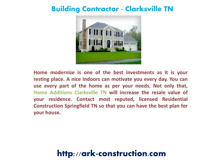 Building Contractor - Clarksville TN