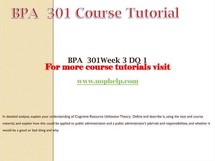 BPA  301