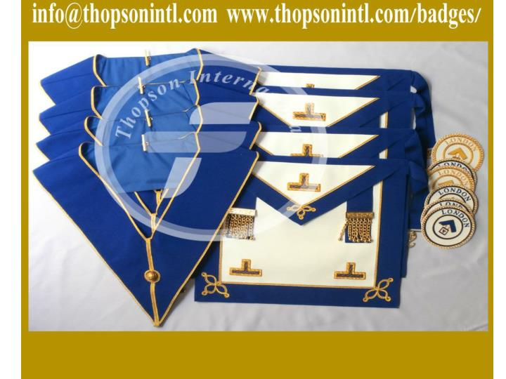 Masonic craft provincial undress apron